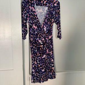 Multi color wrap dress